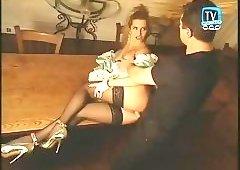 Beauty blonde lady Eva Falk fucked by lucky guy