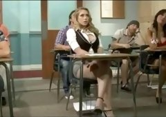 blonde student