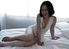 Cute Japanese sex angel poses for demonstrating her nude body
