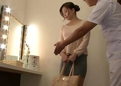 Oiling the Japanese eye candy completely and pounding her hard