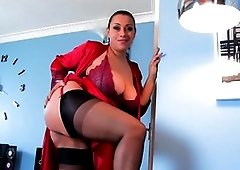 Seductive milf Danica is taking off her clothes