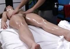 Stroking beautys pussy turns her into a slut
