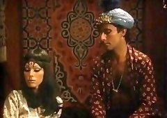 Vintage Arabian Nights lesbian threesome