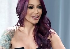 Tattooed pornstar gets eaten out and fucked deep in her ass