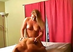 Hot Blonde with strapon
