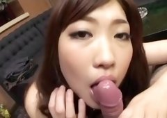 Crazy Japanese slut Karin Kusunoki in Amazing JAV uncensored Blowjob movie