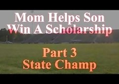 Mom Helps Son Win A Scholarship part 3
