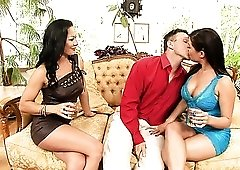 Two amazing whores including Sandra Romain wanna be nailed doggy