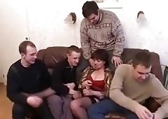 Russian Mature Mom and friends her son! Amateur!