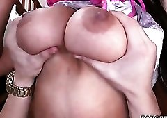 Big butt babe bent over and rimmed out