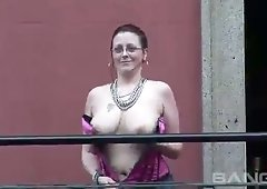 Top heavy ladies like to flaunt their juicy knockers and they are hardly shy