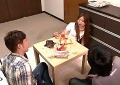 Amazing Japanese chick Maki Takei in Best Fingering JAV clip