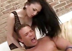 Femdom mistress cock teases a muscular guy BDSM fetish porn