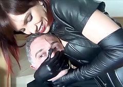 long leather gloves handsmother e bondage