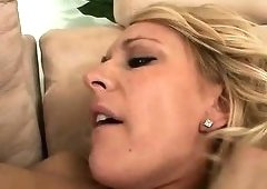 Thick ebony goddess Erin Moore wants that blonde to lick her pussy clean