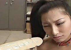 japanese hot secretary receives blowjob training