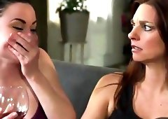 Lesbian initiation in sofa