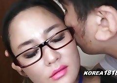 KOREA1818.COM - UPTIGHT Korean Girl in glasses