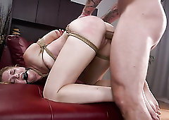 You thanks fuck tied thong lassie on a enjoys doggy are going