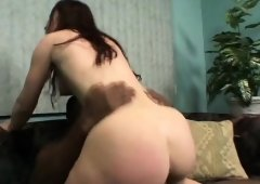 Enticing young brunette Gen Padova receives every inch of a black cock in her cunt