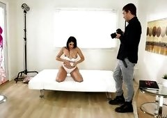 Brunette Babe Seduces Professional Photographer To Get Fucked