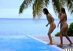 VIXEN Two Best Friends On Vacation Sneak Into DJs House