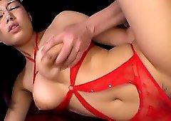 Cute Sakura Nene can't resist fucking with a stranger while she moans