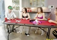 Babes Lose At Strip Poker