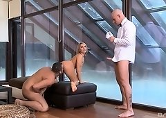 Blonde MILF Aleska Diamond needs two big cocks to make her cum