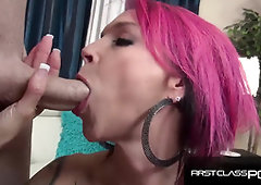 Inked Ginger-Haired enjoys to inhale monster man meat, Anna Bell Peaks - FirstClassPOV