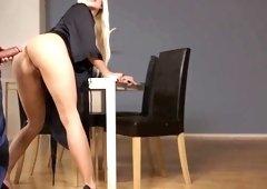 Incredible pornstar Jessie Volt in exotic lingerie, blonde xxx clip