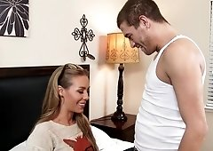 Nicole Aniston daydreaming about getting fucked on her bed by a rockstar