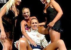 Horny Alexis Crystal has a blast during a kinky lesbian orgy