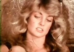 Marvelous vintage blondie stuffs big dick in her mouth