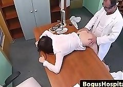 Pussylicked euro pleasured by her doctor