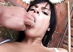 Sluts fucked outdoors in an orgy