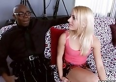 Dazzling busty Cameron Canada gives a magic blowjob