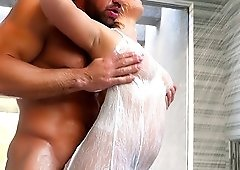 Stunning Bailey Brooke makes a fat dick disappear in her wet cunt