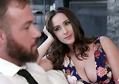 Juicy babe with perfectly shaped boobs and ass Ashley Adams gets her slit fucked