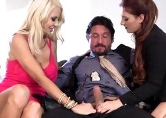 Latin macho shares his love with two magnificent ladies