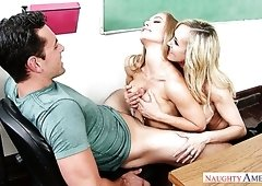 Brandi Love and Nicole Aniston are two naughty teachers and they love 3somes