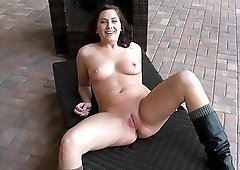 POV fucking session with a naughty boots-wearing minx