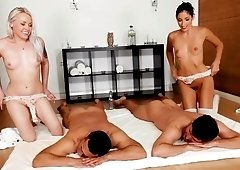 Pussy swapping foursome with Clea Gaulthier and Lola Taylor