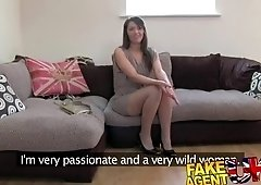 Spicy gal was fucked on her first casting