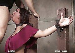 Brutal fingerfuck is what submissive Syren De Mer deserves from dominant stud