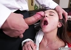 Rough throat gag Babysitters enjoy rock-hard prick