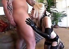 wonderful blonde MILF Dalny Marga sucks and gets fucked