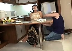 Housewife startled and bound by a burglar