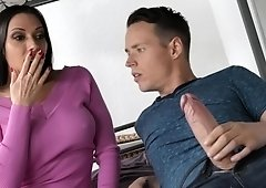 Cock craving MILF seduced her son's buddy