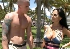 Amazing buxomy French MILF Ava Addams is drilled in asshole out-of-doors